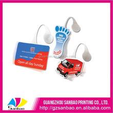 China Supplier Oem Hard PVC PP Plastic Design Supermarket Advertising Dangler