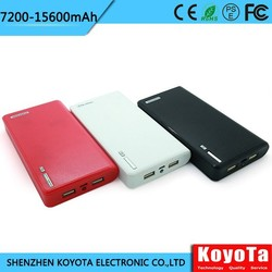 2015 New Online Factory Wholesale 7200mah-15600mah Portable Mobile Power Bank/mobile Power Supply