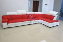 Modern home furniture living room corner sofa L shape design