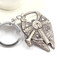 Star Wars Millennium Falcon Spacecraft Key Chain Material Alloy High Quality Bottle Opener Key Chain Keyring