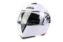 two visor flip up helmet ,ABS material helmetHD-701