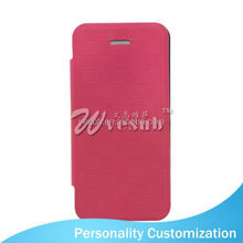 Sublimation leather wallet phone Case PU wallet wholesale cell phone case For Iphone 5