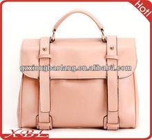2014 European Fashion College Design Genuine leather lady handbags