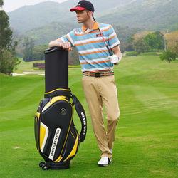 Helix Mens golf club sets use golf bag with wheels / waterproof golf bag with wheels /leather golf scorecard holder