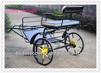 promotion great 2 wheels mini horse cart/pony horse carriage