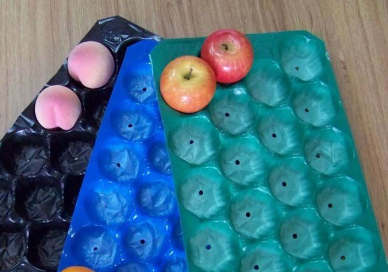 Polypropylene PP Blue Fruit Tray For Pear/Fresh Fruit Export Packaging