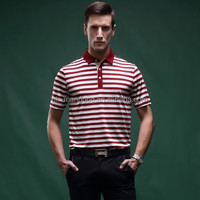 New design high quality vertical stripes men polo t-shirt 100% custom slim fit men's polo shirt