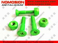 Fresh green paint head screw