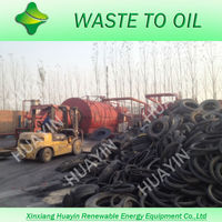 Waste Motorbike Tyre Pyrolysis Plant to Crude Oil Used for Heating Boiler