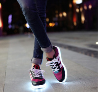 2015 Hot sales white led shoes men for women wholesale nice leather