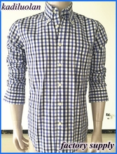 High quality trendy fit luxury design 100%Cotton plaids Dress Formal casual long sleeve men shirt manufacturer in China