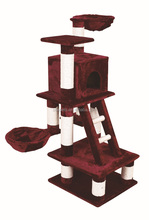 Floor to celling cat tree furniture house with top bed