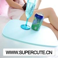 Multipurpose portable ABS&PVC Blue color rectangular shape inflatable wedge pillow
