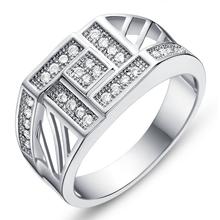 Zircon ring for men mens designer finger rings jewelry wholesale