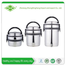 Round shape stainless steel thermos container for food