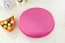 Colores platos plasticos en abanico/circular para colocar caramelos y nueces divididos en cinco cuadrículas