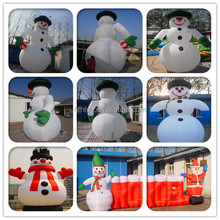 Christmas holiday decorations inflatable snowman