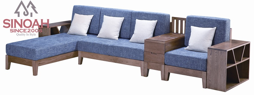 solid wood oak furniture living room furniture sectional sofa