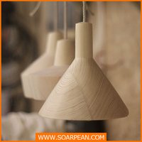 hot sell modern lampshade wooden round lampshade