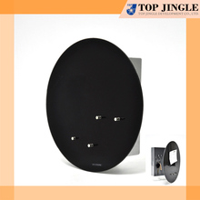 Round Metal Magnetic Board with Key Holder