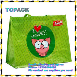 green blue colorful promotional recycled non woven shopping bag