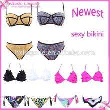 Hexin fuente de la fábrica mujeres bikini transparente