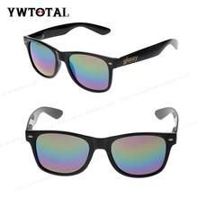 2015 summer fashion sunglasses colored plastic sunglasses with rainbow mirror reflective lens