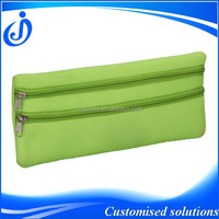 Two Zipper Neoprene Pencil Case With Compartments