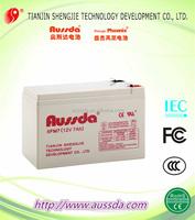 Aussda 12v 7ah storage sealed lead acid battery
