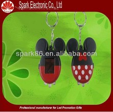 whole sale 3d keychain personalized solar keychain plastic colorful for promotional gift