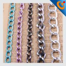 2015 new style iron,steel,copper,alloy colorful metal chain for jewelry,hand bag making