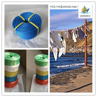 3 strands colored twist PP polypropylene rope manufacturer in china