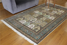 5x8 Hand Knotted Traditional Carpets,Qum Rug 100% Silk