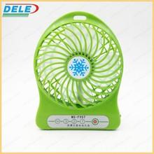 portable USB mini fan 18650 lithium battery operated mini fan