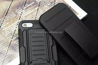 Belt Clip shockproof silicone+pc armour housing cover cell phone for iphone 6&6plus Dual Layers case