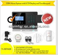 YL-007M2K 99 Wired/Wireless Defense Zones GSM SIM Home Alarm System Remote Control