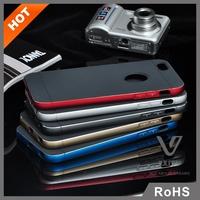 Factory supply premium aviation aluminum +TPU materials hot products mobile phone accessory bumper case for iphone 6 plus