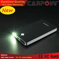 Emergency Power Bank Hot Sale 6900mAh Mini Jump Start Battery With Torch Light