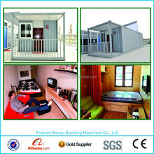 Ready made prefabricated contianer homes with solar panel prefab container house