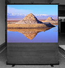 """Pull up Floor Stand 100"""" 16:9 Projection Screen"""