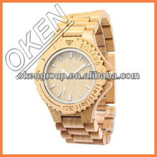 Environmental friendly wood watches made out of pure wood in wristwatches