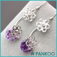 DIY Designs Fine Jewelry colorful silver Cz flower earring