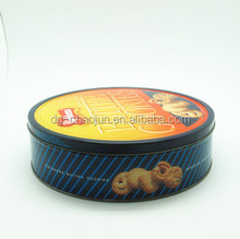 food grade hot sale design cookie tin box clear lids with ISO certified