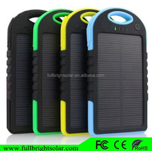Solar Panel Charger 5000mAh Rain/Dirt/Shockproof Dual USB Port Portable Solar Charger Backup External Battery Power Pack