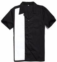 hip hop shirts short sleeve collar rock fancy design men shirt