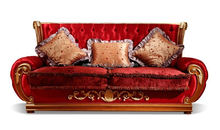 European classic wood sofa hand carving living room sofa antique furniture A65360 (3seat)