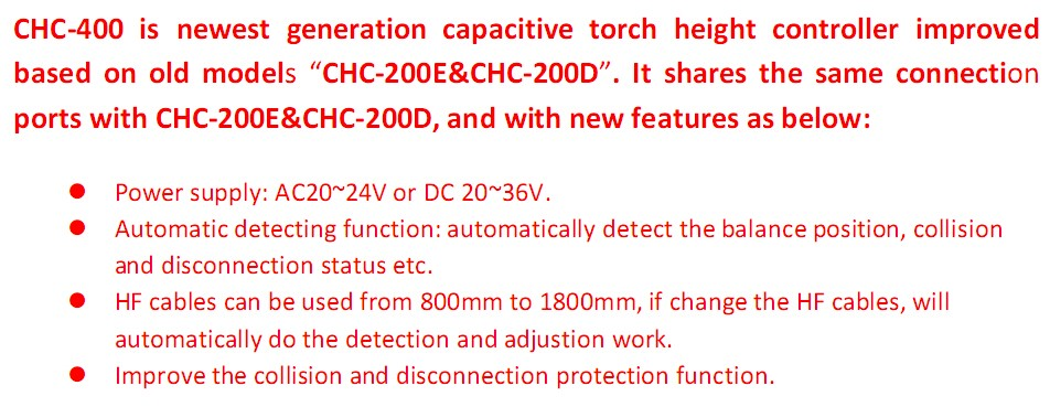 CHC-400 NEW FUNCTION