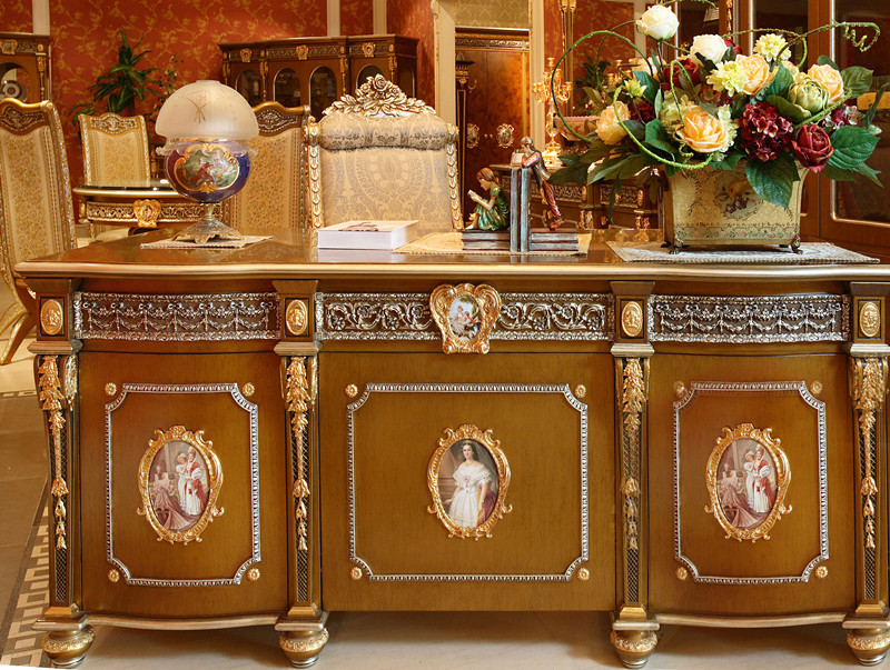BF03-010038240000-67 _.jpg - Luxury French Louis XV Style Golden Classic Office Desk/ Antique