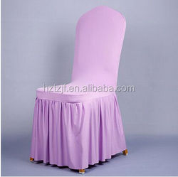 wedding chair seat cover and organza sas/Hotel White Lycra Chair Cover ECD141