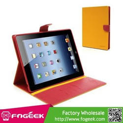 High Fashion Goospery Leather Fancy Diary Wallet Flip Case w/ Stand & Card Slots for iPad 2 / 3 / 4